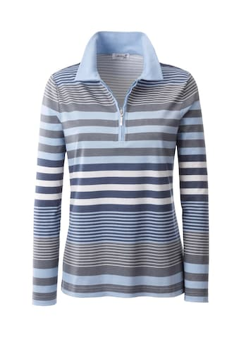 Casual Looks Poloshirt aus flott geringeltem Muster kaufen