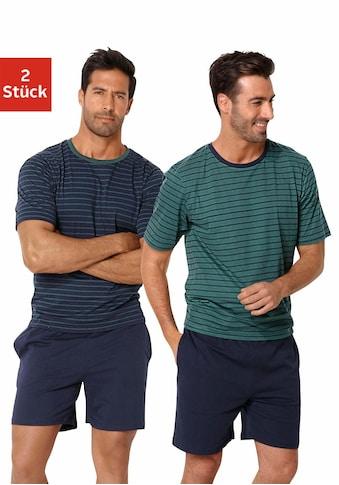 le jogger® Pyjama, kurz im Streifendesign kaufen