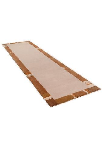 THEKO Läufer »Avanti«, rechteckig, 12 mm Höhe, Teppich-Läufer, reine Wolle, handgeknüpft, mit Bordüre kaufen