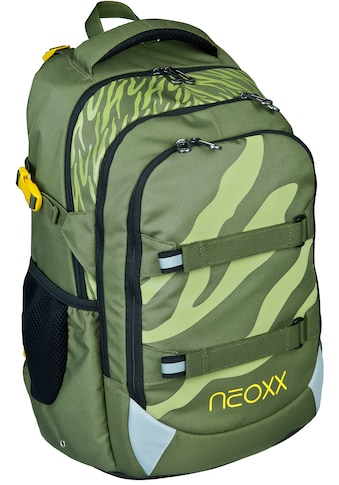 neoxx Schulrucksack »Active, Ready for Green«, Reflektionsnaht, aus recycelten PET... kaufen