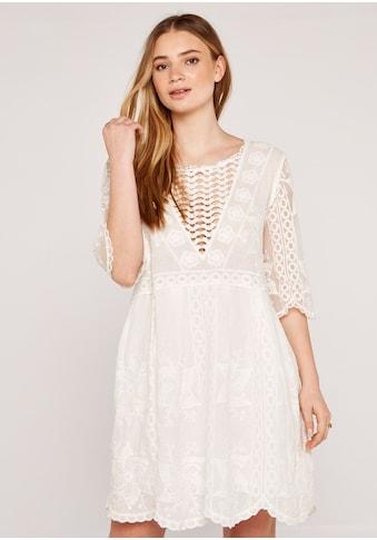 Apricot Volantkleid »Embroidered Cotton Voile Dress«, mit Stickereien kaufen