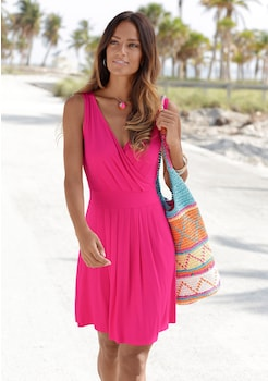 Beachtime Strandkleid mit tiefem V - Ausschnitt kaufen 2dbddf6f86