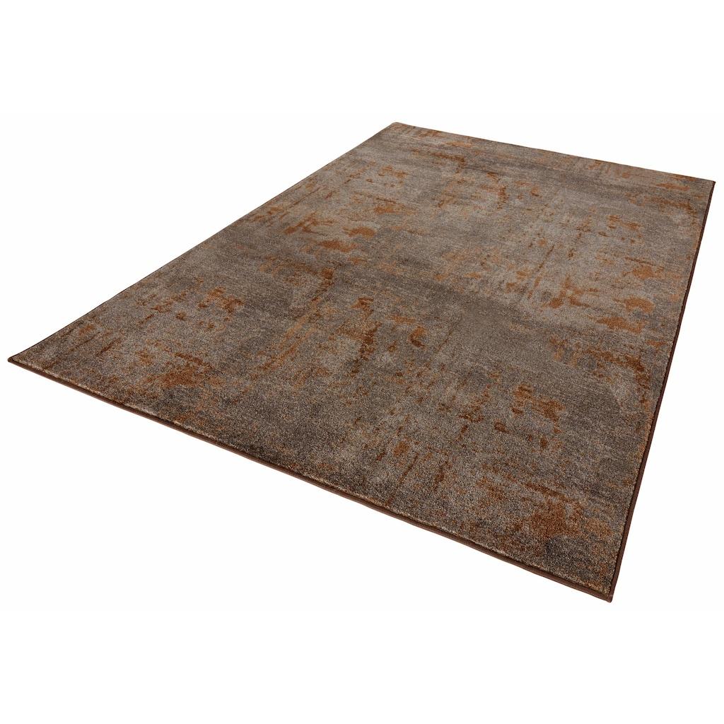 MINT RUGS Teppich »Golden Gate«, rechteckig, 10 mm Höhe, Velours, Kurzflor, Wohnzimmer