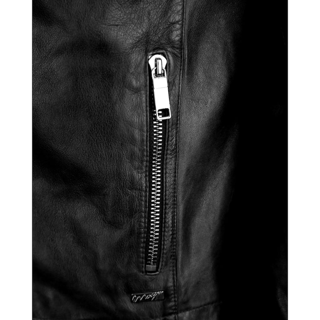 Maze Lederjacke mit Druckknopfverschluss am Ärmel