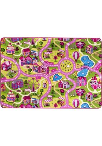 Andiamo Kinderteppich »Sweet Village«, rechteckig, 7 mm Höhe, Strassen-Spielteppich, Strassenbreite: 6,0 cm kaufen