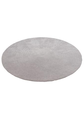 andas Teppich »Blanca«, rund, 15 mm Höhe, besonders weich durch Mikrofaser, Wohnzimmer kaufen