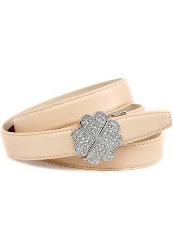 Anthoni Crown Ledergürtel, mit filigraner Schliesse in Kleeblattopik kaufen