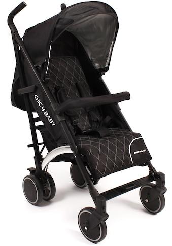 CHIC4BABY Kinder-Buggy »Luca black«, mit schwenk- und feststellbaren Vorderrädern;... kaufen