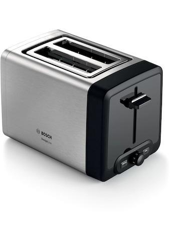 BOSCH Toaster »DesignLine, TAT4P420DE«, für 2 Scheiben, 970 W kaufen