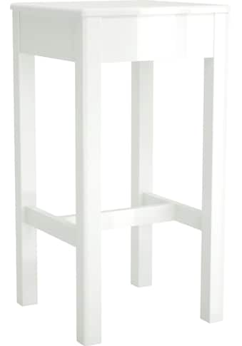 Home affaire Barhocker »Orlando«, im weissem Hochglanz, passend zum Orlando Bartisch, Sitzhöhe 73, 8 cm kaufen