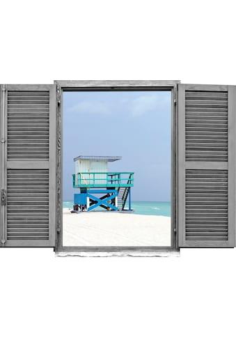 queence Wandtattoo »Strandhäuschen« kaufen