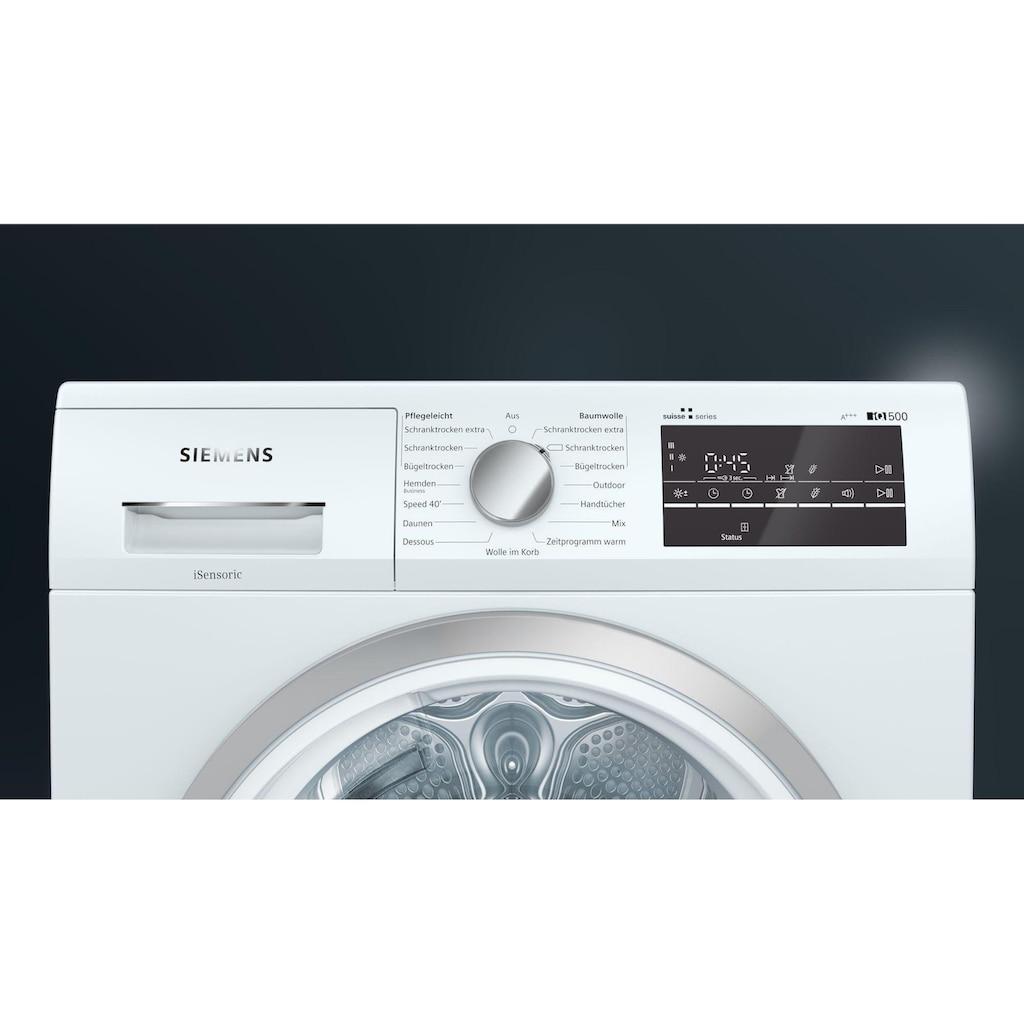 SIEMENS Wärmepumpentrockner »WT47RT90CH A+++«