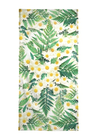 "Handtuch ""Textured Vintage Daisy And Fern"", Juniqe kaufen"