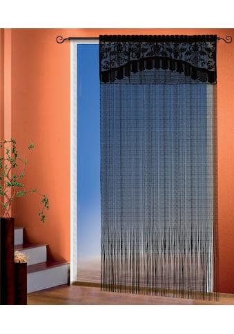 WILLKOMMEN ZUHAUSE by ALBANI GROUP Fadenvorhang »Adele«, Fadenvorhang mit Bordüre kaufen