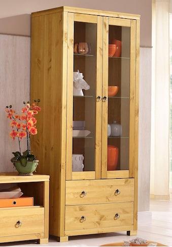 Home affaire Vitrine »Gotland«, Höhe 178 cm, mit Glastüren kaufen