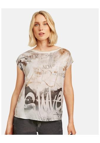 Taifun Rundhalsshirt »Shirt mit Satin - Front« kaufen