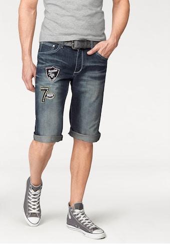 Bruno Banani Jeansbermudas, mit Markenbadges kaufen