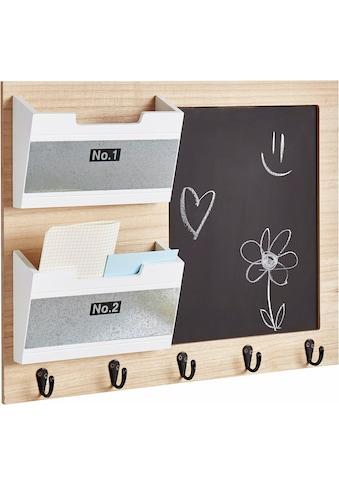 andas Memoboard »Porsgrunn«, mit Tafel, Aufbewahrungsfächer und 5 Haken kaufen