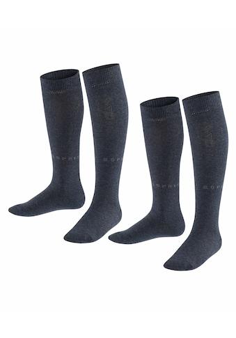 Esprit Kniestrümpfe »Foot Logo 2-Pack«, (2 Paar), aus hautfreundlicher Baumwolle kaufen