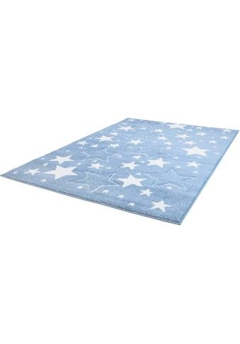 Carpet City Kinderteppich »Bueno Kids 1325«, rechteckig, 13 mm Höhe, Sterne, handgearbeiteter Konturenschnitt kaufen