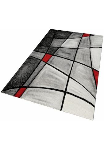 merinos Teppich »DOUBS«, rechteckig, 13 mm Höhe, merinos, handgearbeiteter Konturenschnitt, Wohnzimmer kaufen