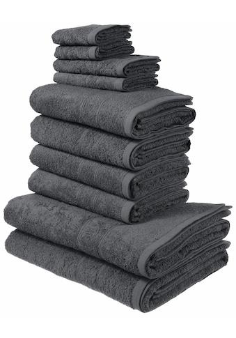 my home Handtuch Set »Inga«, mit feiner Bordüre kaufen