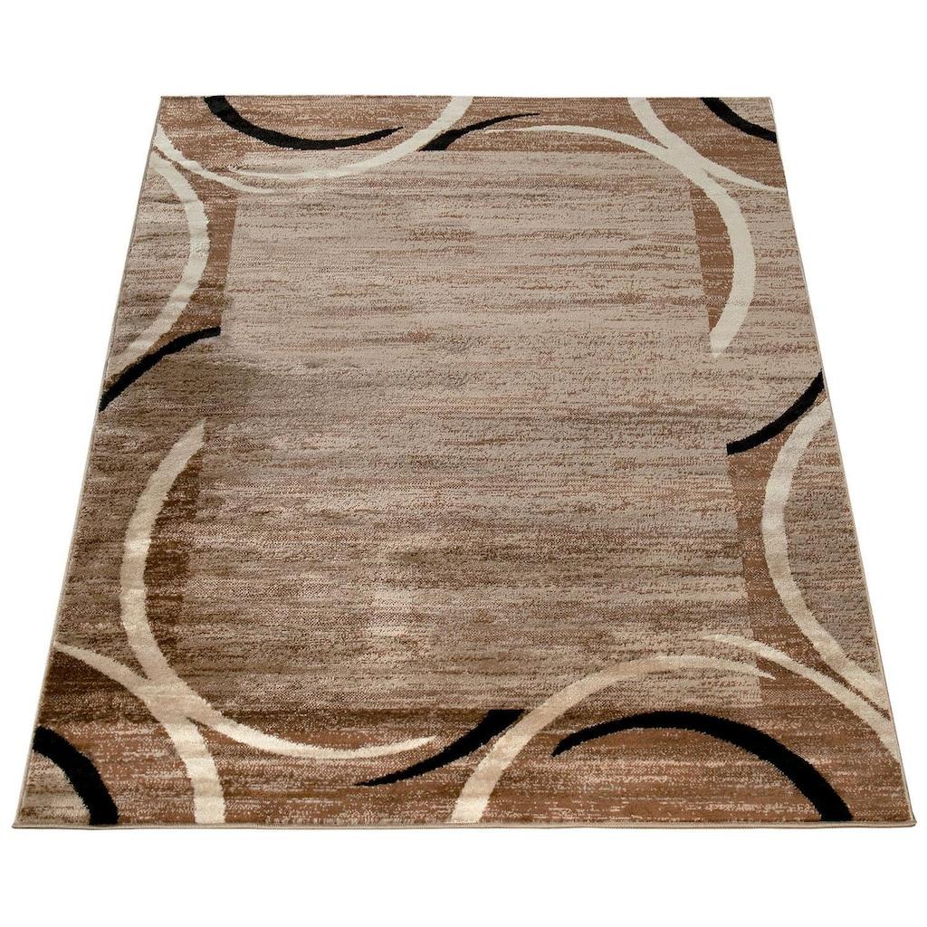 Paco Home Teppich »Sinai 059«, rechteckig, 9 mm Höhe, Kurzflor mit Bordüre, Wohnzimmer, Kundenliebling mit 4,5 Sterne-Bewertung!