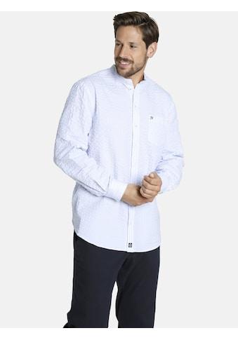 Jan Vanderstorm Langarmhemd »SILLAS«, Baumwollhemd mit Stehkragen kaufen