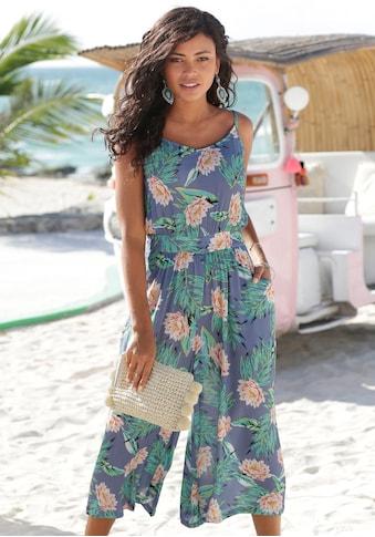 s.Oliver Beachwear Culotte-Overall, aus gecrashter Viskose kaufen