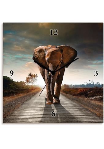 Artland Wanduhr »Ein Elefant läuft auf der Strasse« kaufen