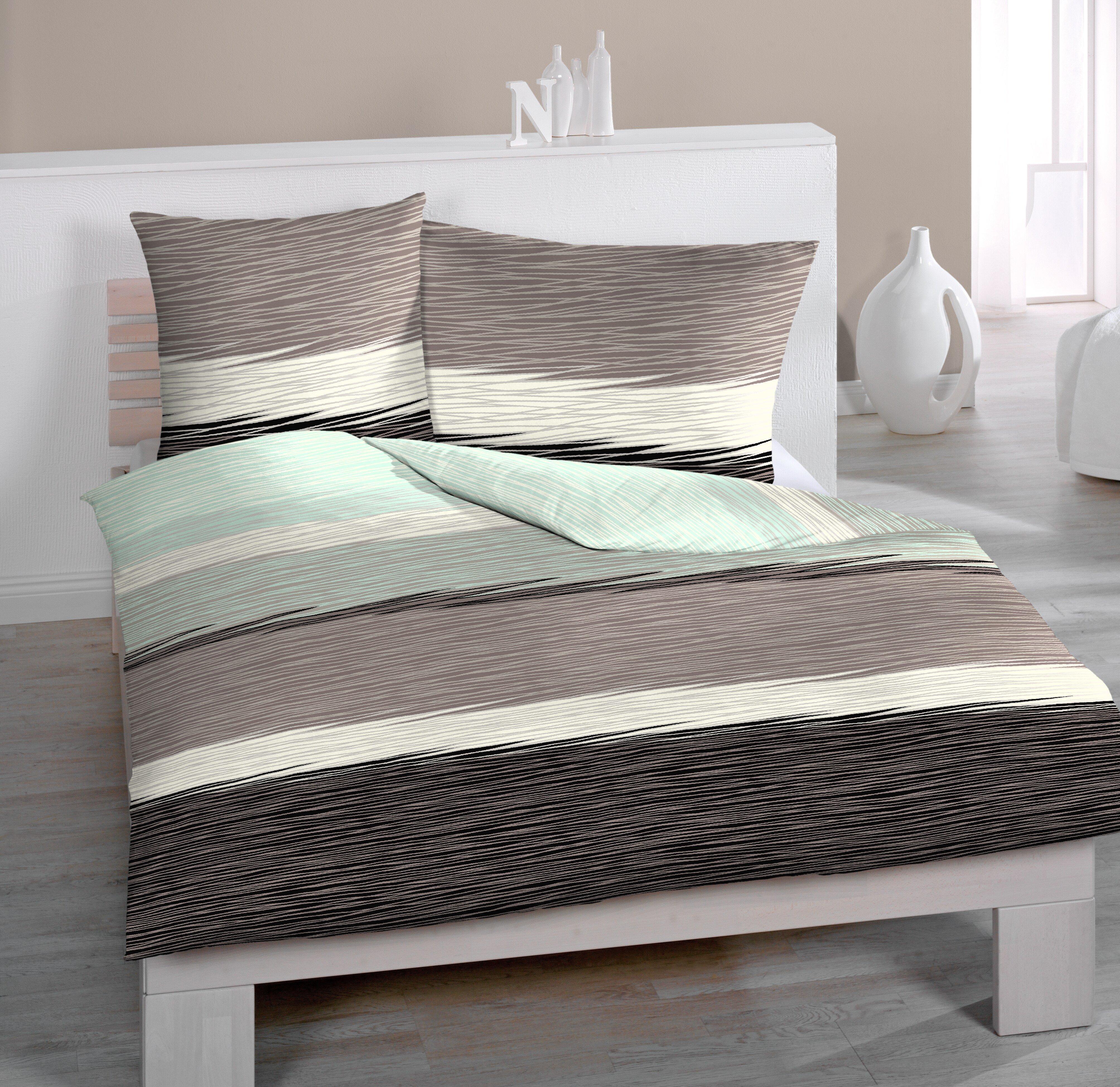 Image of Jersey-Bettwäsche, mit feinem Streifenmuster, Home Fashion