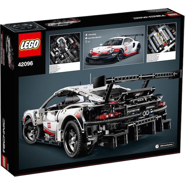 """LEGO® Konstruktionsspielsteine """"Porsche 911 RSR (42096), LEGO® Technic"""", Kunststoff, (1580-tlg.)"""