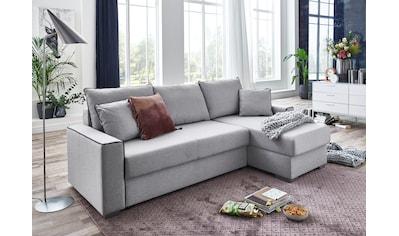 ATLANTIC home collection Ecksofa »JORDAN«, mit Taschenfederkern, Bettfunktion, Bettkasten und beidseitig montierbarer Recamiere kaufen