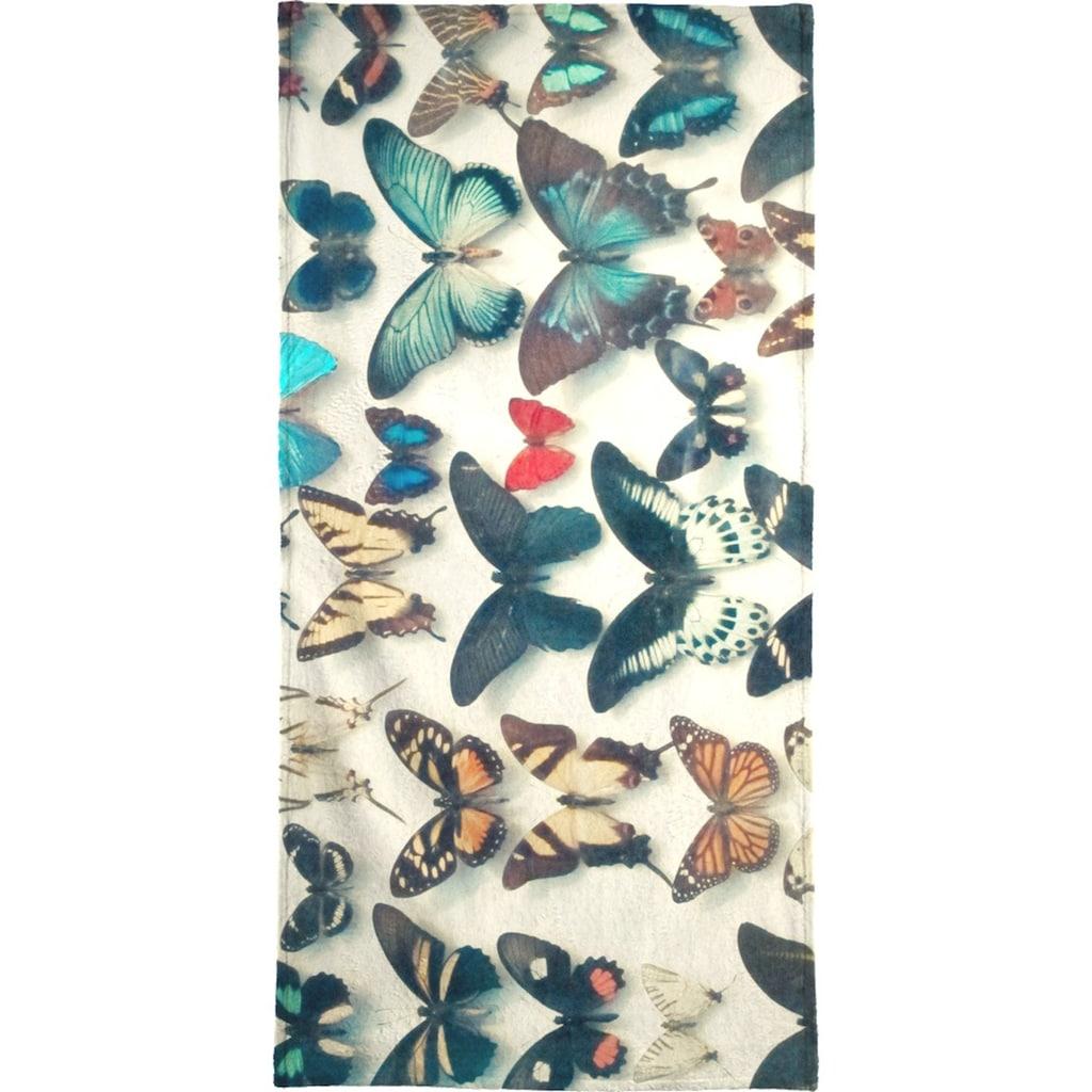Juniqe Handtuch »Wings«, (1 St.), Weiche Frottee-Veloursqualität