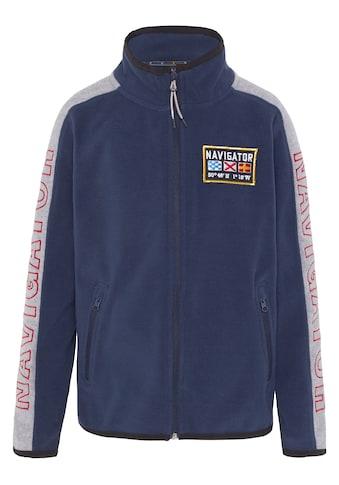 NAVIGATOR Sweatjacke »Boys Sweatjacket aus Fleece, Regular Fit«, Regular Fit kaufen