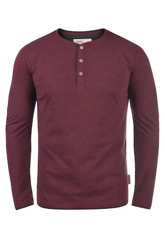 Indicode Rundhalsshirt »Gifford«, Longsleeve mit Knopfleiste kaufen