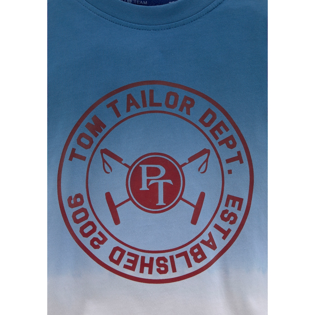TOM TAILOR Polo Team Langarmshirt, mit Farbverlauf