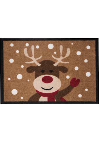 Fussmatte, »Reindeer«, HANSE Home, rechteckig, Höhe 7 mm, maschinell getuftet kaufen