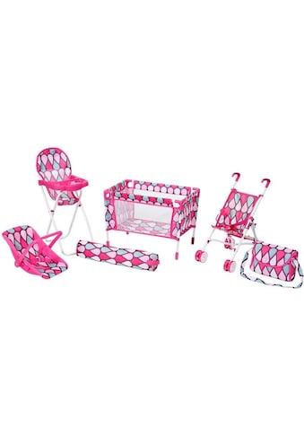 Knorrtoys® Puppen Reiseset »Puppenreiseset pink« kaufen