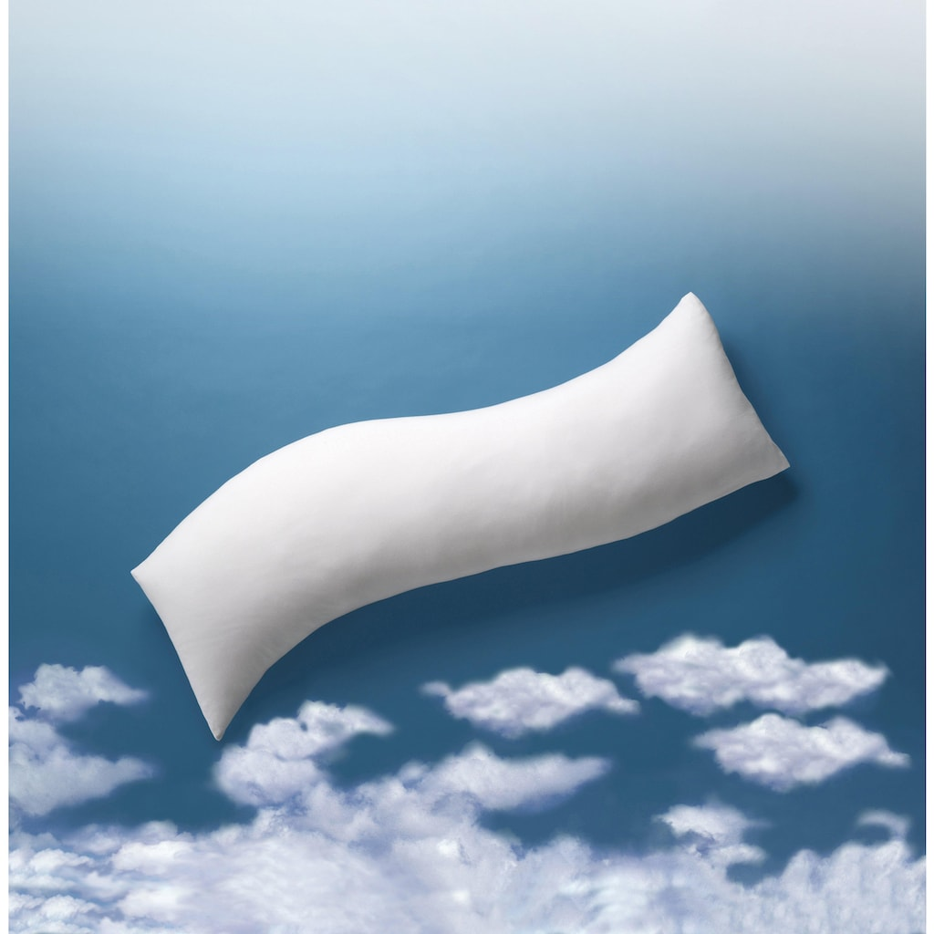 billerbeck Seitenschläferkissen »Sinus«, Füllung: 100% Polyester, Faserbällchen, Bezug: 100% Baumwolle, mit Reissverschluss, (1 St.)