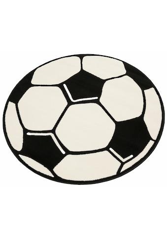 HANSE Home Kinderteppich »Fussball«, rund, 10 mm Höhe, Fussball Spielteppich für jede Gelegenheit kaufen
