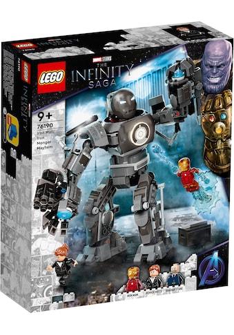 LEGO® Konstruktionsspielsteine »Iron Man und das Chaos durch Iron Monger (76190),... kaufen