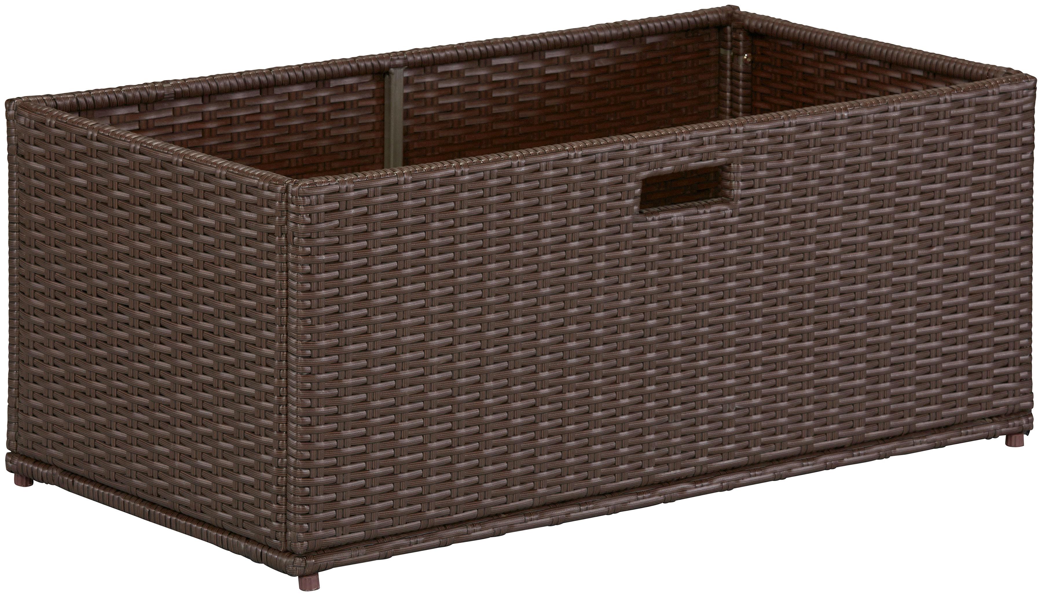 Image of Auflagenbox, (B/H/T): ca. 95x39x49 cm, Polyrattan, braun