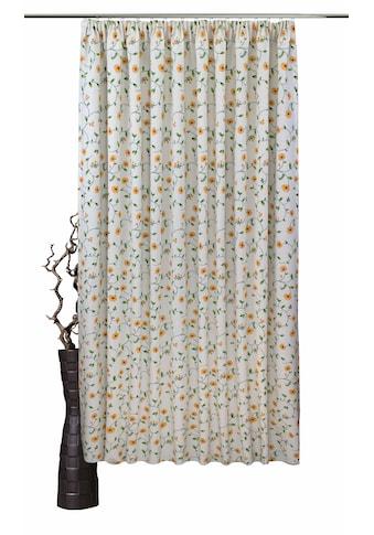 VHG Vorhang nach Mass »Kati«, Leinenoptik, Blumen, Ranke, Breite 150 cm kaufen