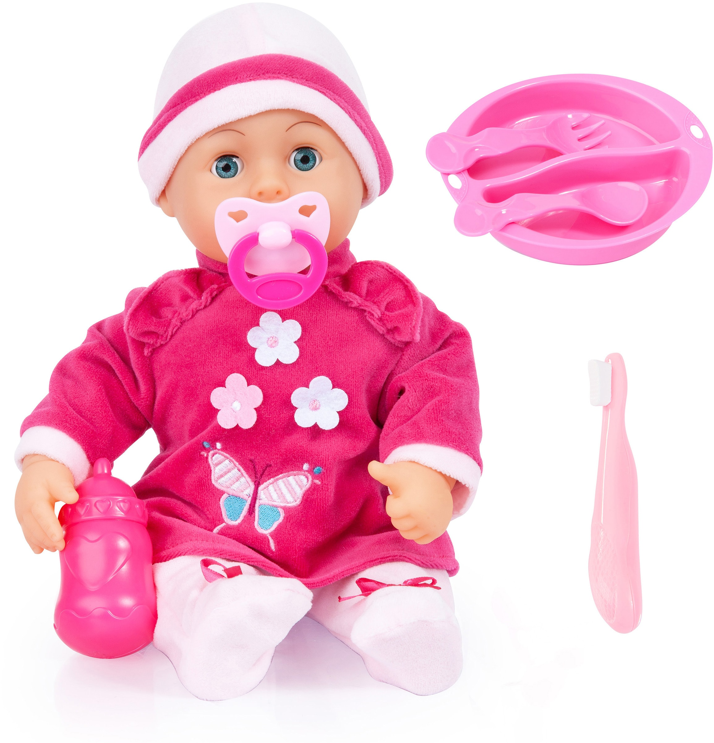 "Image of Bayer Babypuppe ""Baby Lisa pink"" (Set, 7-tlg.)"