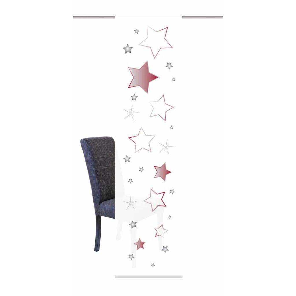 HOME WOHNIDEEN Schiebegardine »STARS«, HxB: 245x60, inkl. Befestigungszubehör