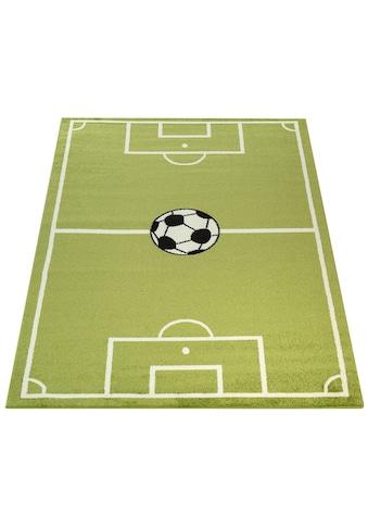 Paco Home Kinderteppich »ECE Fussball 953«, rechteckig, 14 mm Höhe, Kurzflor, Fussball Spielteppich kaufen