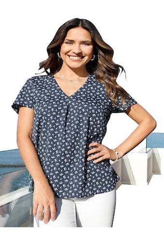Classic Basics Bluse mit Schwalben - Print allover kaufen