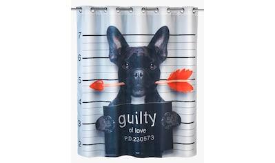 WENKO Duschvorhang »Guilty Dog« Breite 200 cm kaufen