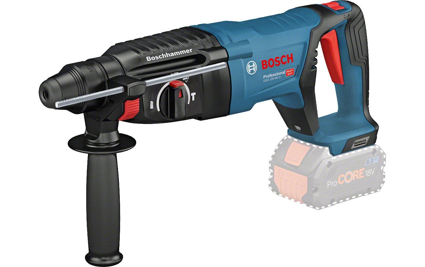 Image of Akku-Bohrhammer, Bosch Professional, »GBH 18V-26 D Solo Karton + Zubehör«